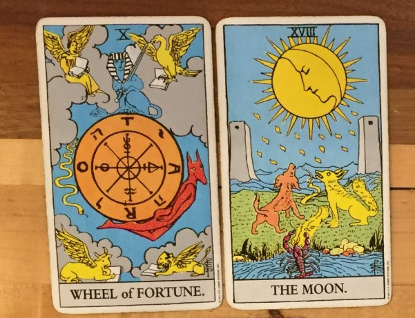 a pair of cards in the tarot reading